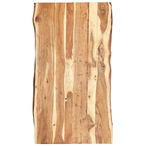 vidaXL Massivholz Tischplatte Baumkante Massivholzplatte Akazie 120x60x3,8 cm