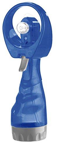 PEARL Handventilator: Hand-Ventilator mit Wassersprüher, 300 ml-Wassertank, Batteriebetrieb (Handventilator mit Sprühfunktion)
