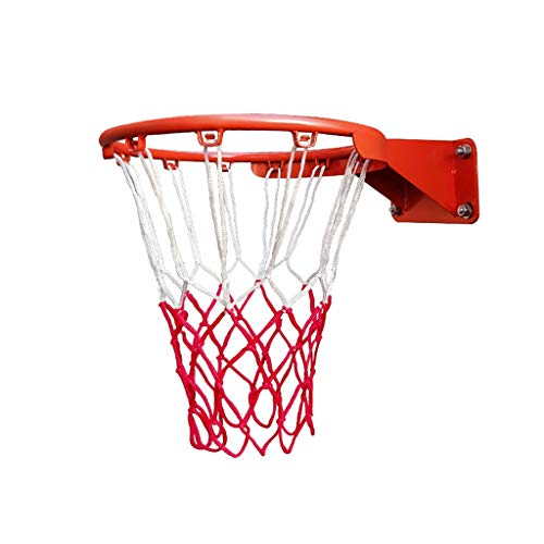Nostalgie Basketball-Reifen-Ring-Wand-montierter Basketball-Reifen-Netto-Ring mit Netz and Fixierungen für Indoor Outdoor-Kinder 18 '' 45cm (Color : Children 35cm)
