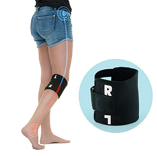 Rodillera de acupresión con banda de punto de presión para aliviar el dolor ciático, dolor de espalda