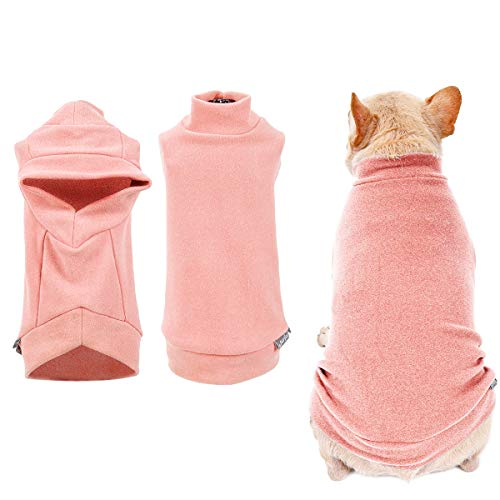 Pet Cozy Warm Fleece Clothes for Small Dog Cat, High Elastic Soft Puppy Vest Sweater Pajama Coat Jacket Shirt for Autumn Winter Indoor Outdoor Activities Hiking Sphynx Siamese Maine Poodle Bulldog Pug