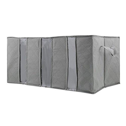 Grau 65L Aufbewahrungstasche Tragbarer Organizer Non-Woven Fabric Underbed Pouch Bambus Kleidung Sortierung Beutel-große Kapazität Haus-