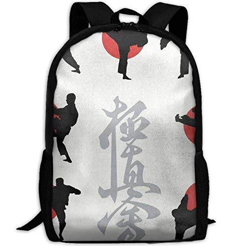 sghshsgh Rucksack für Hochschule,New Student Backpack School Backpack for Laptop Most Durable Lightweight Cute Travel Water Resistant School Backpack Japan Karate Casual Daypack