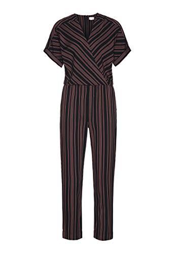 ARMEDANGELS Damen Jumpsuit aus LENZING™ ECOVERO™ - AARABELLA Pair of Stripes - M Black 100% Viskose (lenzing™ Ecovero™) Hose Jumpsuit V-Neck