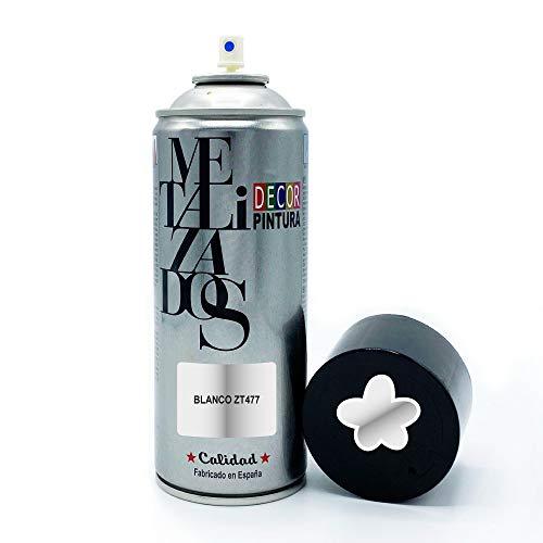 Vernice spray Metallizzata   Vernice Spray Bianco Metallizzato   400 ml   Bomboletta Spray per legno, alluminio, ferro, ceramica, plastica Vernice bomboletta spray metallizzata bici, cerchi graffiti