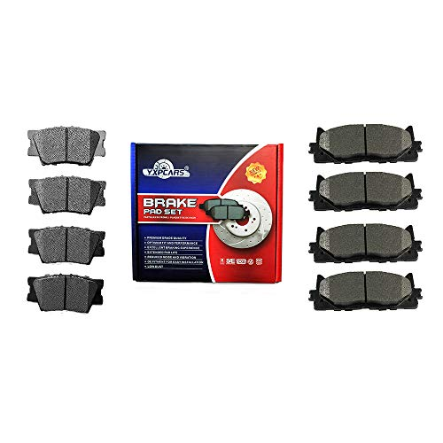 YXPCARS Front & Rear Ceramic Brake Pads for LEXUS ES300h 2013-2017/ES350 2007-2017/TOYOTA AVALON 2008-2018/TOYOTA CAMRY 2007 Japan Built Models (1st VIN Digit J)/TOYOTA CAMRY 2008-2017 All Models