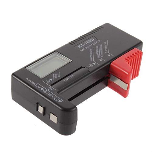 Batterietester Batteriekapazitätstester Überprüfung des Ladezustands für 1,5 V bis 9 V Batterien BT-168D Digitalanzeige - Schwarz & Rot