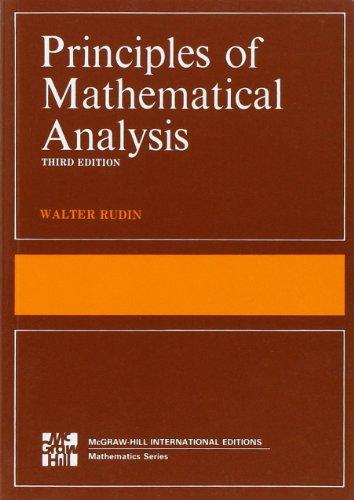 Principles of Mathematical Analysis (Int'l Ed)
