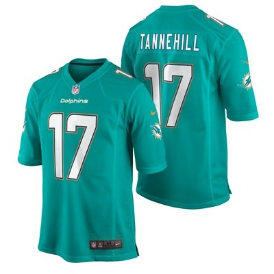 Miami Dolphins Home Game Jersey - Ryan Tannehill Lt Blue (Size XL)