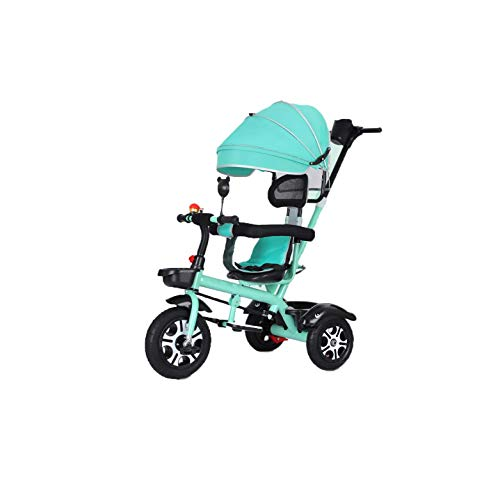 Triciclos Triciclo TRIKE KIDES 'TRIKES PEDAL CARE TRICÍCULO PARA NIÑOS CON PADRES DIRECTORES PUSHER PUSH HANDLE / AWNING PARA 1-6 AÑOS DE NIÑOS NIÑOS NIÑAS Pedido retráctil Pedal para niños Scooters S