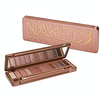 Urban Decay Naked3 Eyeshadow Palette 12 Versatile Rosy Neutral Shades for Every Day - Ultra-Blendable Rich Colors with Velvety Texture - Set Includes Mirror & Double-Ended Makeup Brush