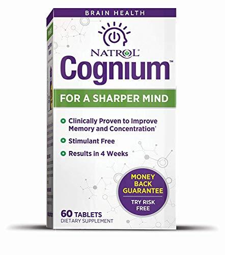 Natrol Cognium Sharper Mind, 60 Tablets (Pack of 2)