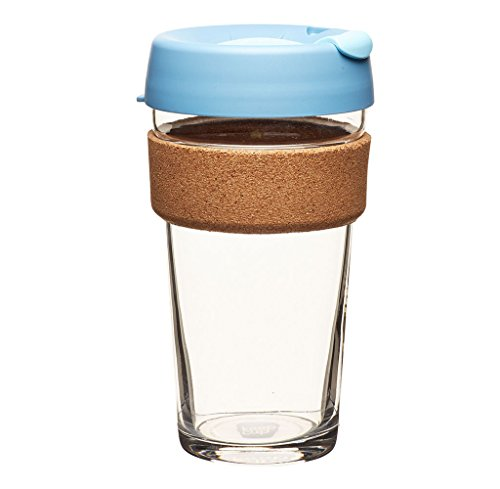 KeepCup 16oz Reusable Coffee Cup. Toughened Glass Cup & Natural Cork Band. 16-Ounce/Large, Rock...