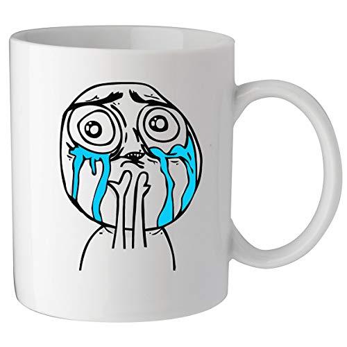 Nothingtowear Crying Meme Forever Alone Funny Keramik Tasse Kaffeetasse Teetasse Becher Mug