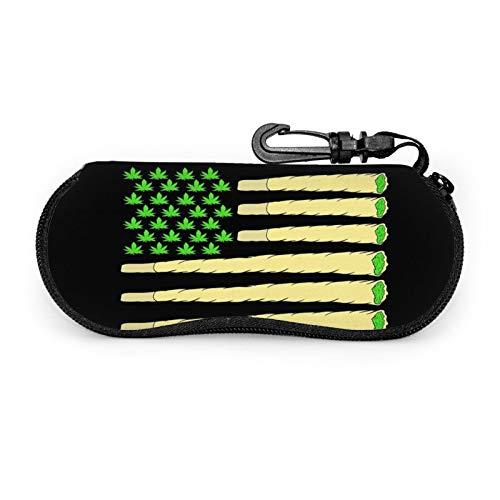 Gafas de sol caso de gafas con clip para cinturón bandera americana marihuana marihuana marihuana marihuana marihuana marihuana marihuana marihuana mari
