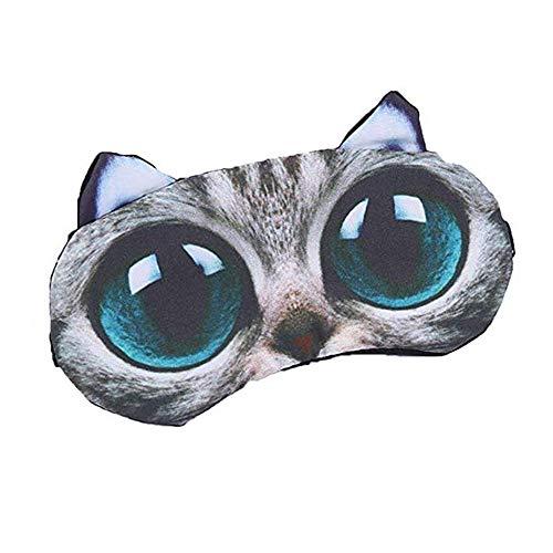 Mascarilla para dormir con diseño de gato en 3D para niños, diseño de gato y perro