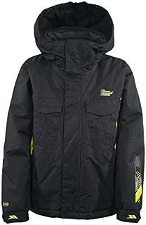 Trespass Negasi Kids Winter Waterproof Ski Jacket Boys Windproof Black Snow Coat