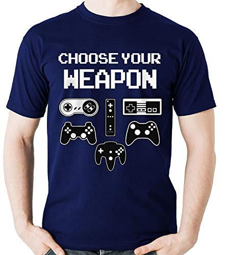 Camiseta Choose Your Weapon Controle Gamer Game Camisa Blusa