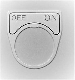 マルヤス電業 φ25スイッチ用銘板(アルミ)、表示 「切 - 入」、X-25-E202