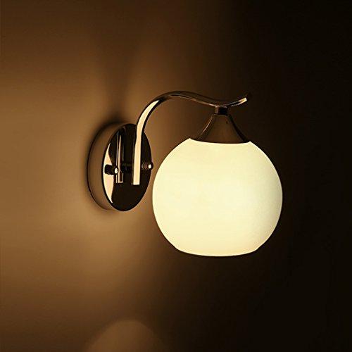 Chinoise Chambre À Coucher Double Tête De Verre Mur Lampe Wall Lights (style : A)