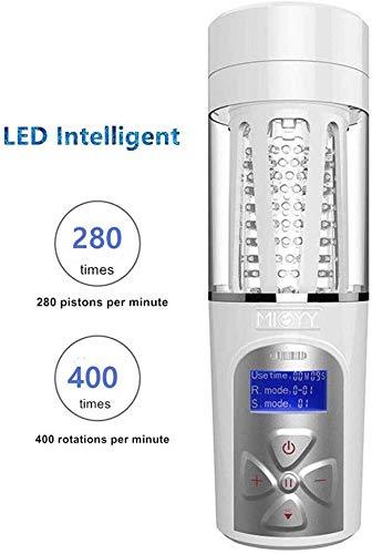 LIUYUN1-9 Intelligent Male Spielzeug-Automatic Cup Saugen 400Times / Min-LED und 360 ° Dreh 5 Geschwindigkeit und 10 Muster Automatische Piston Cup Spielzeug -Spielzeug