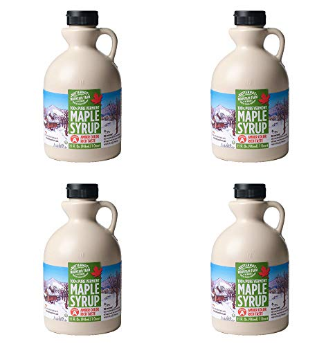 Butternut Mountain Farm Pure Maple Syrup From Vermont, Grade A, 32 Oz, Pack of 4