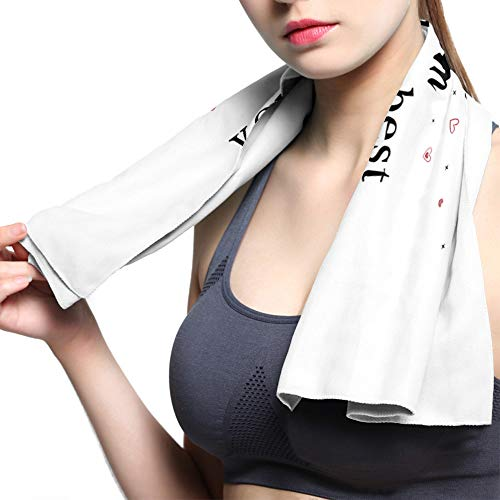 T&H XHome Cooling Gym Microfiber Towels for Men Women,Workout Sweat Towels Fast Drying Headband Bandana for Camping Backpacking Travel Yoga-I Love You MOM ONLY The Best Mother's Day Gnome Gift