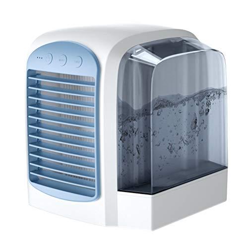 Katyma Mobile Air Conditioner Aire Acondicionado Personal de 3 Pliegues Mini Spray Fan Refrigerador de Aire USB Humidificador de Escritorio para Dormitorio Sala de Estar Oficina