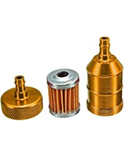 """Auto-accessoires Stookolie Filter 1/4"""" 6mm Aluminium Inline Fuel Gas oliefilter for Motorcycle Pit Dirt Bike ATV Quad ZHQHYQHHX"""