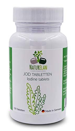NaturElan - Pastillas de yodo - 120 piezas