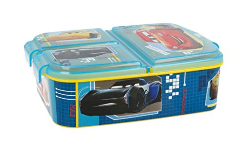 Theonoi Kinder Brotdose / Lunchbox / Sandwichbox wählbar: Frozen PJ Masks Spiderman Avengers - Mickey – Paw aus Kunststoff BPA frei - tolles Geschenk für Kinder (Cars)