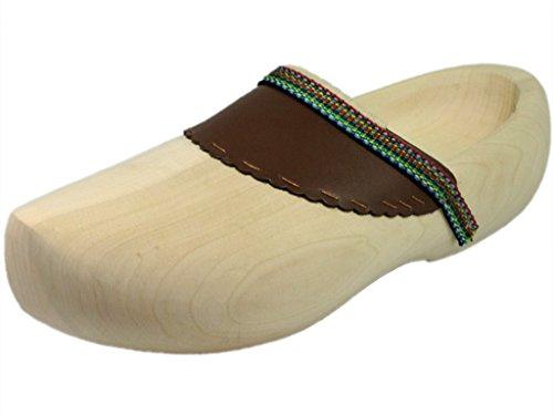 HOLZSCHUHVERSAND Unisex Holzschuhe Comfort - bequem - vielseitig, Beige, Größe: 45