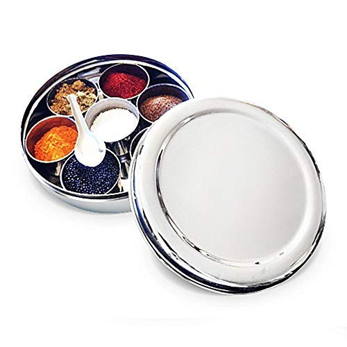 Stainless Steel Masala Dabba Stainless Steel Spice BoxStainless Steel Masala Box StorageSpice Container BoxStainless Steel Masala BoxValentine Day Gifts