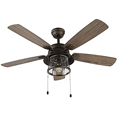 Shanahan 52 in. LED Indoor/Outdoor Bronze Ceiling Fan with Light Kit