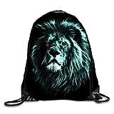 Etryrt Mochilas/Bolsas de Gimnasia,Bolsas de Cuerdas, Unique Blue Face Drawstring Backpack Rucksack Shoulder Bags