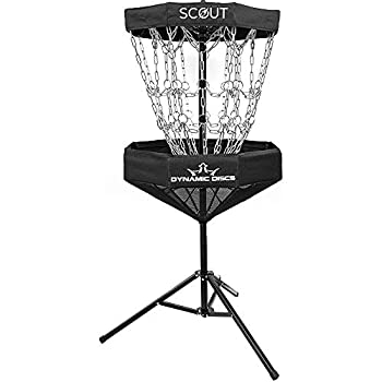 Dynamic Discs Scout Portable Disc Golf Basket   8 Outer Chains 8 Inner Chains 2 Cross Sectional Chains Disc Golf Target   Foldable Frisbee Golf Target for Easy Mobility