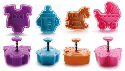 Ibili Ausstechform-Set Baby mit Auswerfer 4-teilig, Kunststoff, mehrfarbig, 13 x 13 x 4 cm, 4-Einheiten