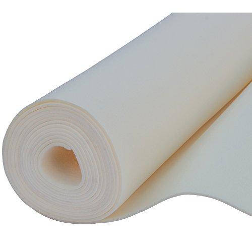 Filz, Filzstoff, Dekorationsfilz, imprägniert, Breite 100 cm, Dicke 4 mm, Meterware 0,5 lfm - écru