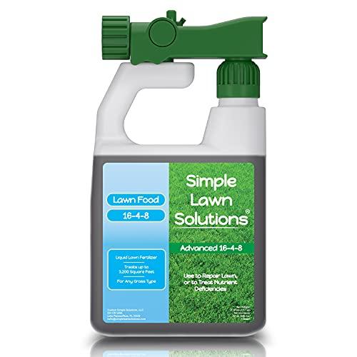 Advanced 16-4-8 Balanced NPK - Lawn Food Quality Liquid Fertilizer - Spring & Summer Concentrated...