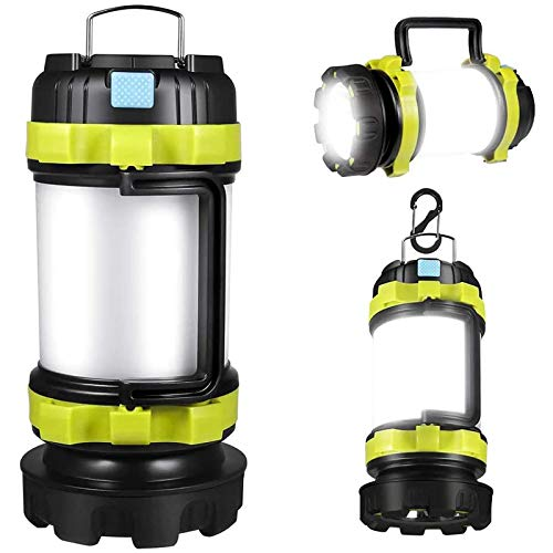 Portable Rechargeable LED Camping Lantern, Portable Lantern Flashlight, 6 Modes, 4000mAh Power Bank, IPX4 Waterproof, Two Way Hook Of Hanging, Perfect For Hurricane, Emergency Light, Fishing ,durable