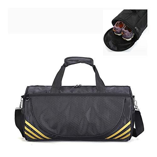 Cheap Sport Gym Bag Donne Uomini for Yoga di Forma Fisica di Nylon da Allenamento Viaggio Ultralight Duffle Scarpe Piccolo sac De Sport Bag Esercizi di Ginnastica (Color : Gold L Shoes)