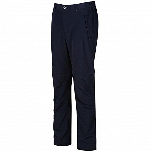 Regatta Leesville Zip off Pantaloni Bambino, Marina Militare, Size 40-inch/Regular Uomo