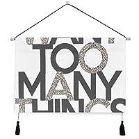 MISCERY タペストリー、スローガンファッションベクトル、壁掛けタペストリー壁画 壁飾り 家 リビングルーム ベッドルーム 部屋 おしゃれ飾り モダンなアート