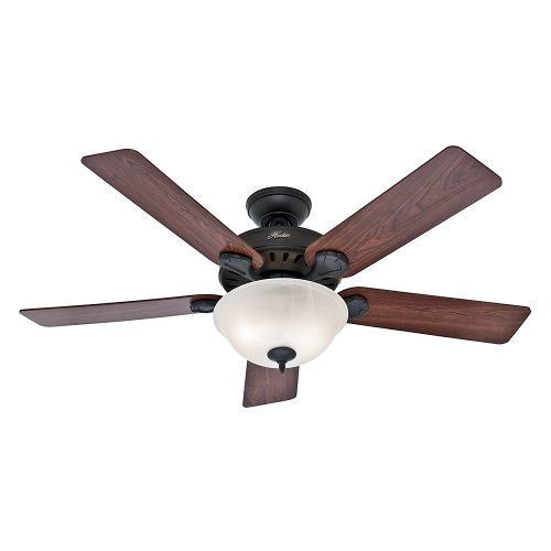 """Hunter Pro's Best Indoor Ceiling Fan with LED Light and Pull Chain Control, 52"""", New Bronze"""