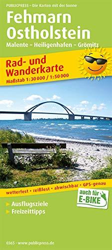 Fehmarn - Ostholstein, Malente - Heiligenhafen - Grömitz: Rad- und Wanderkarte mit Ausflugszielen, Einkehr- & Freizeittipps, wetterfest, reissfest, ... 1:30000/1:50000 (Rad- und Wanderkarte: RuWK)