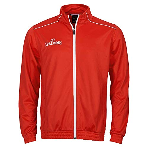 Spalding Kinder Team WARM UP Jacket Jacke, rot/Weiß, 128