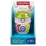 Fisher-Price Laugh & Learn On-The-Glow Taza de café, Juguete Interactivo para bebé, Multicolor, 8.9 x 8.6 x 11.4 cm (Mattel GHJ04)