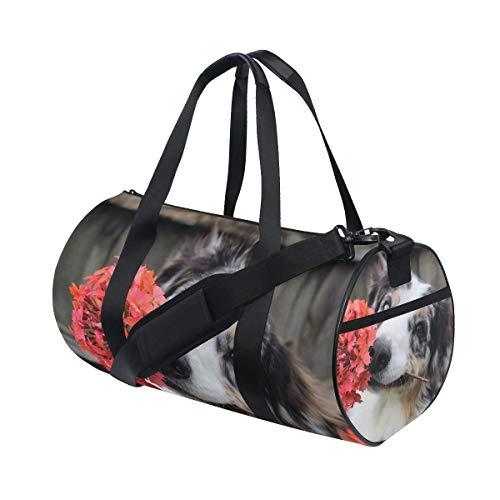 AJINGA Bolsa de viaje de flores con correas de mochila para gimnasio
