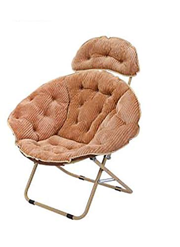 Bias&Belief Sun Lounger Moon Chair Recliner Armchair Collapsible Lounge Chair Balcony Lazy Sofa Bedroom Chair Maximum Load of 275 Pounds,Brown,A