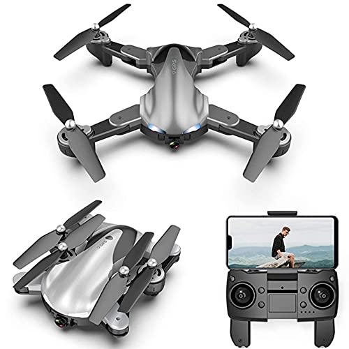 DCLINA Drone 4K con cámara para Adultos 5G WiFi FPV Video en Vivo Drone Plegable RC Drone Quadcopter para Principiantes con 2 baterías